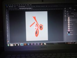 New calligraphy arabic name Maha by hillllallll