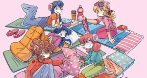 Thea Sisters at the Sleepover Party by danwind