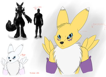 Renamon by TennisBall22