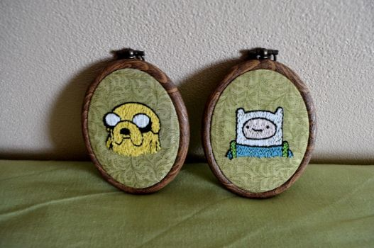 Finn and Jake by eveningemma