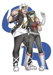 Commission: Guzma and Proton by BOSSU-FINN