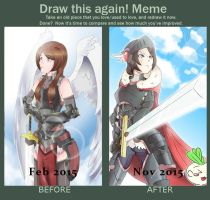 Draw This Again Meme: Angelic Valkyrie by RavenZaphiere