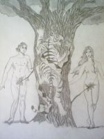 Adam and Eve by LadyRavenhawk