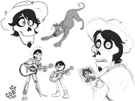 Coco doodles by GreenDogBARKZ