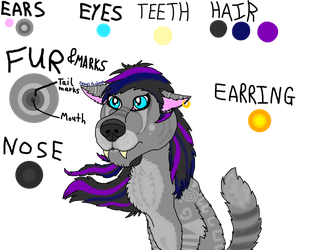Emo Wolf Adoptable (Female) by Flippyisadorable