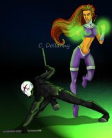 Starfire and...Red X? by dolfanny