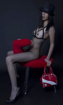 Fishnet Recline by loveimplied