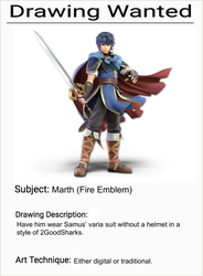 Drawing Wanted: Marth by Willy276