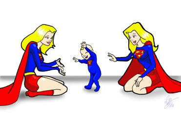 Supergirls BabySister First Steps 2 by Inspector97 by kclcmdr