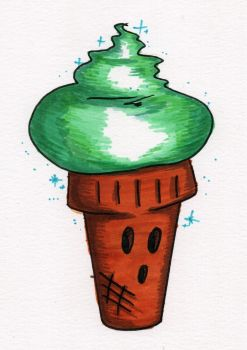 Coney Cone (Mochi back cover) by InkyTheCartoonist
