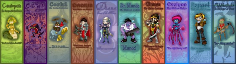 League of Legends bookmark set 2 by Hotaru-oz