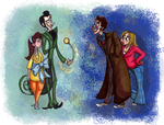 The Dandy Meets the Doctor by katseartist