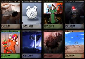 SCP Cards 2 by Burdrehnar