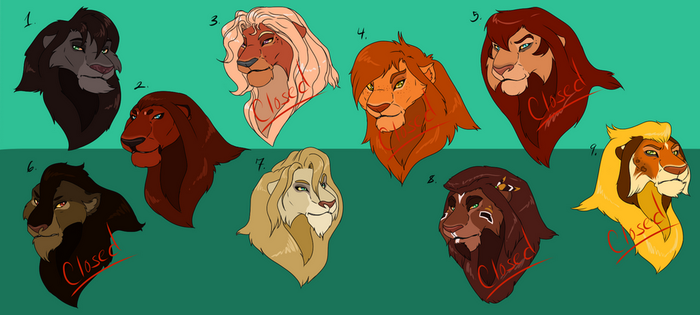 Male lion Adopts (1/9 - Open) by Sikudhanii