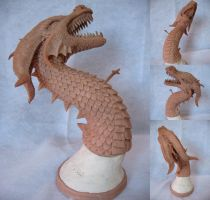Dragon Sculpture - Antitheus by kelly-bot