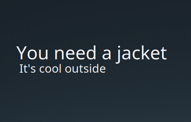 Do I Need A Jacket Conky by easysid