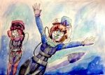 Annie and Nova go for a dive. by JSenpaiDaNinja