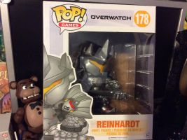 Overwatch Reinhardt funko pop by fossil-fighter
