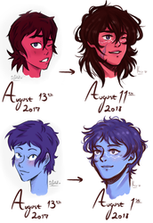 ...whoa, a year's difference redraw [ klance ] by oh-no-Castiel