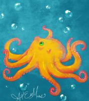 LOL AN OCTOPUS by wiccimm