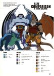 Gargoyles size and color chart - 4 by TheBarracuda
