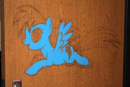 Pony on my Door by jpmeister