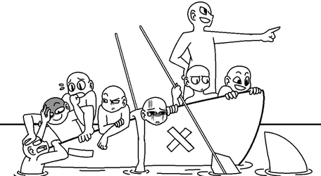 Draw the Squad (base) : Boat by QueenCookieMonster
