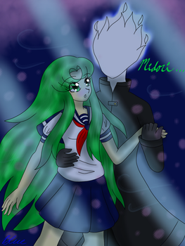 Midori and the Flame Demon by BlueStarNights