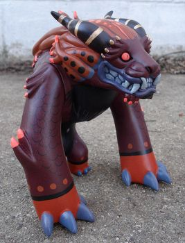 Foo Dog Toy custom 1 plum-gold by missmonster