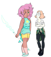 Pearl And Mystery Girl clothes swap! by BewareTheMusicMan