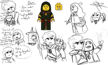 The One Departed - Ninjago OC (Sketch dump) by RRproAni