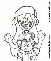 Wendy and Dipper by Garabatoz