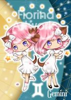 Chibi Starsigns - Gemini by Fiorina-Artworks