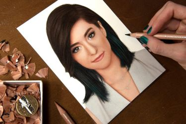 Drawing Christina Grimmie by Heatherrooney