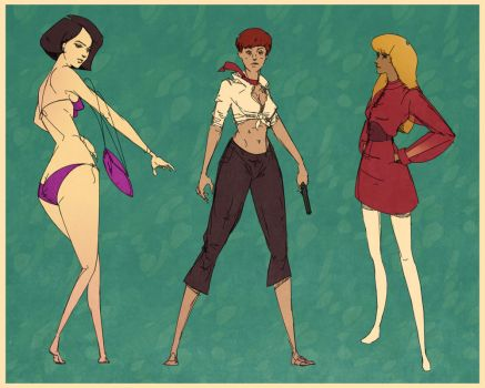 Bond Girl Sketches by ScottPellico
