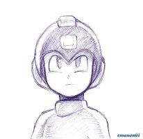 Megaman stylo bic by emanon01