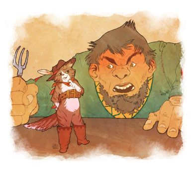 puss in boots and the magic ogre by KuroSy