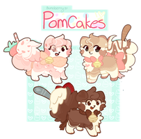 :CLOSED: Pomcake Auction by Bunaberry