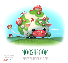 Daily Paint 1557. Mooshroom by Cryptid-Creations