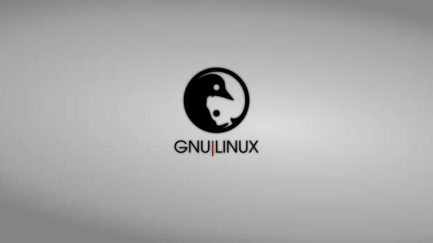 GNULinux YinYang Wallpaper | Silver by Dablim