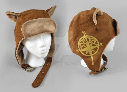 Steampunk Aviator Cap - The Navigator by SewDesuNe