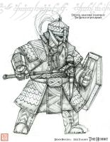 Finalized Full armoured Dwarf by kineticflow