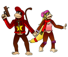 The Kong Kouple - Diddy 'n Dixie Redesigns (Color) by Varia31