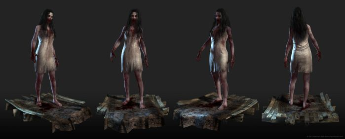 Zombie Girl Pose on Base by screenlicker