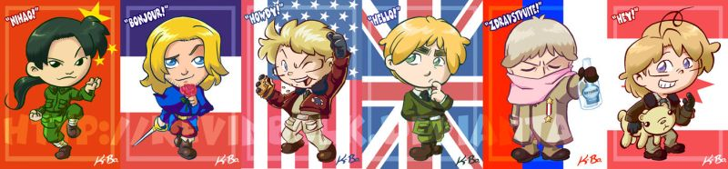 Hetalia: Allies Card Set by kevinbolk
