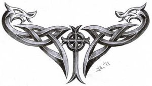 celtic cross + dragons by roblfc1892