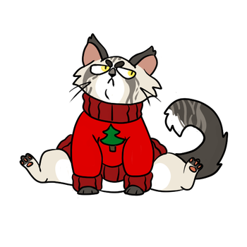 Ask Oswald the Grumpy Sweater Cat! by Cataclasum