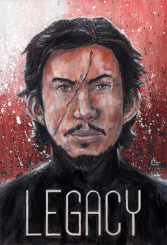 Kylo Ren Legacy - Painting by HeroFromMars