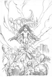 Awesome Annie - Pencils version by michaelstewart