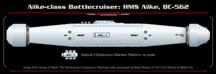 House of Steel - Nike Class Battlecruiser by thomasthecat